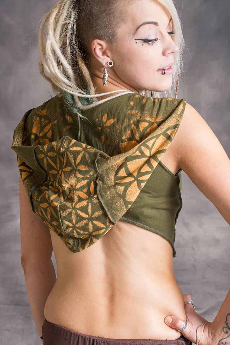 Mandala Hooded Waistcoat