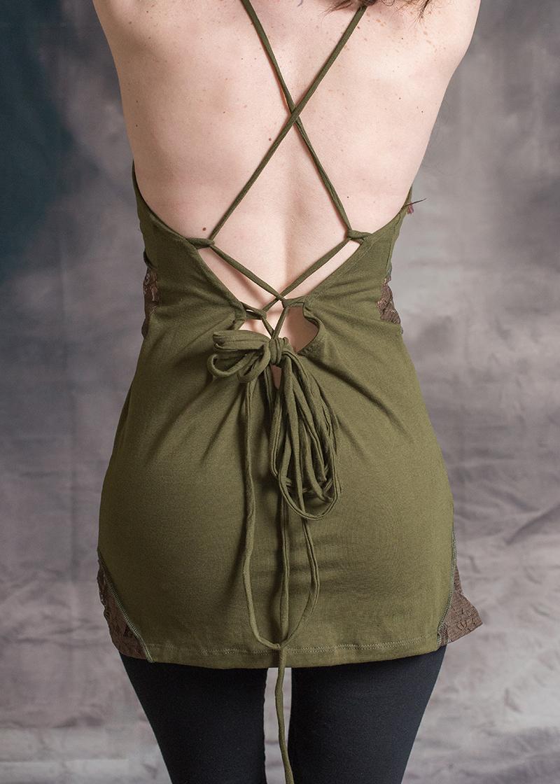 Interlock Front Lace Top