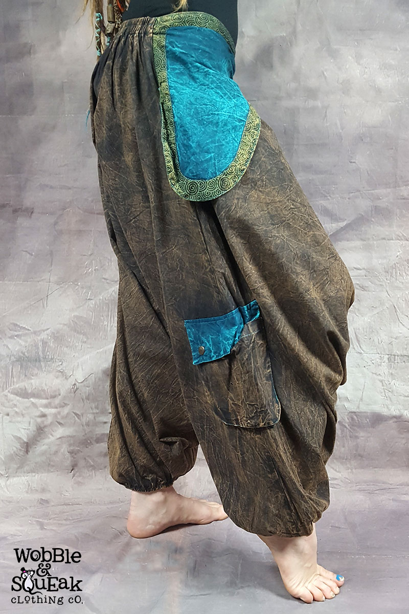 Stonewash Ali Babas Brown with Turquoise