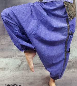 Stonewashed Ali Baba Pants Purple