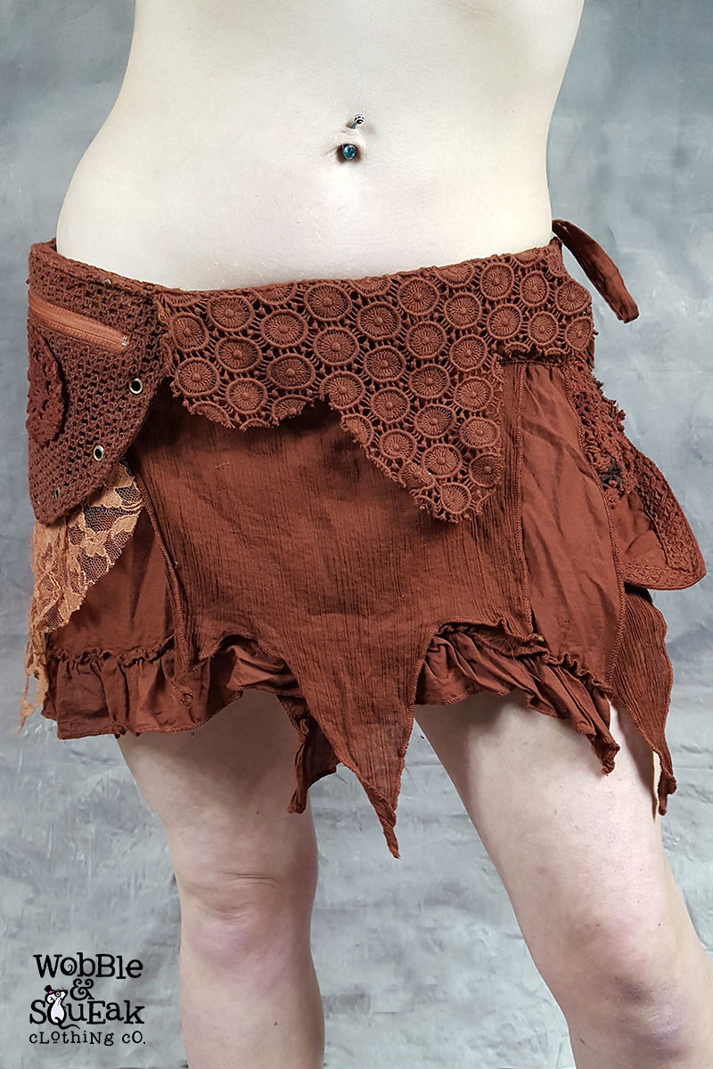 Crepe Skirt Brown