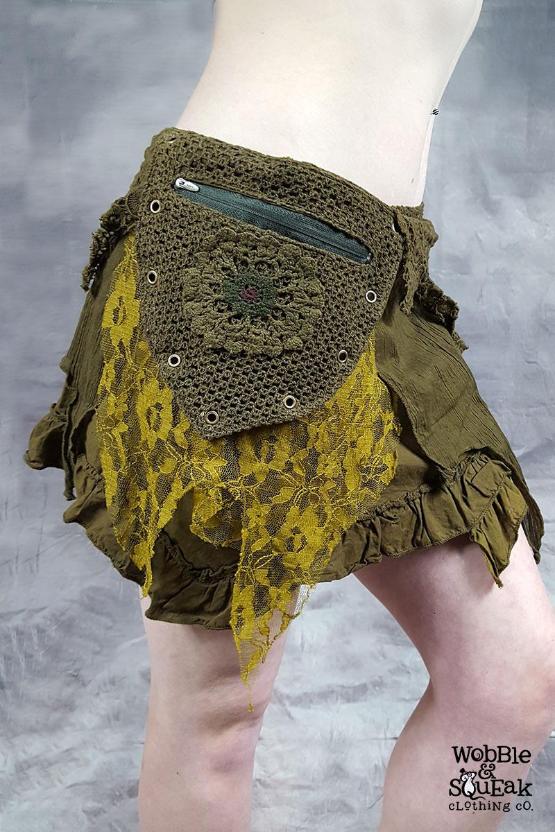 Crepe Skirt Green