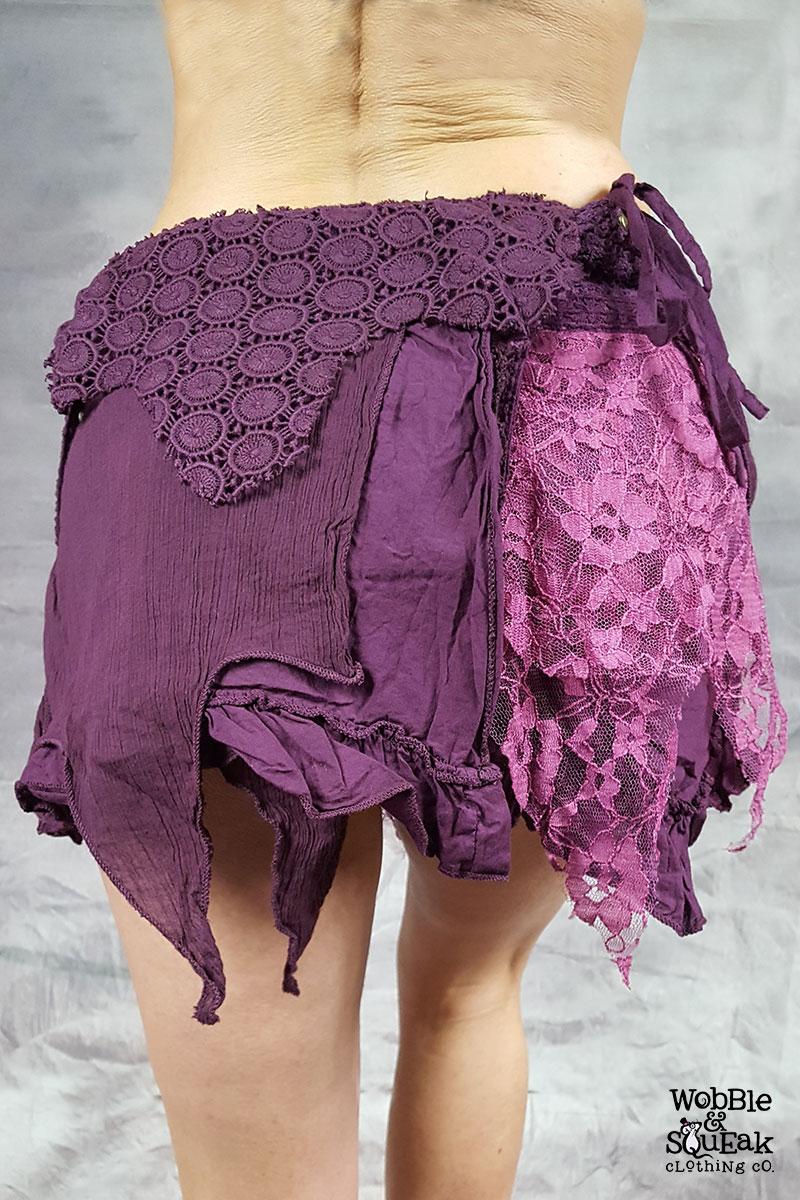Crepe Skirt Purple