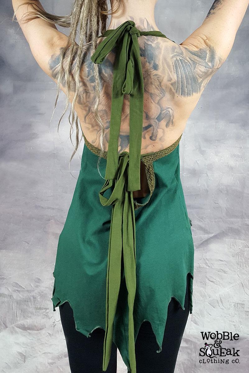 Diamond Halterneck Green