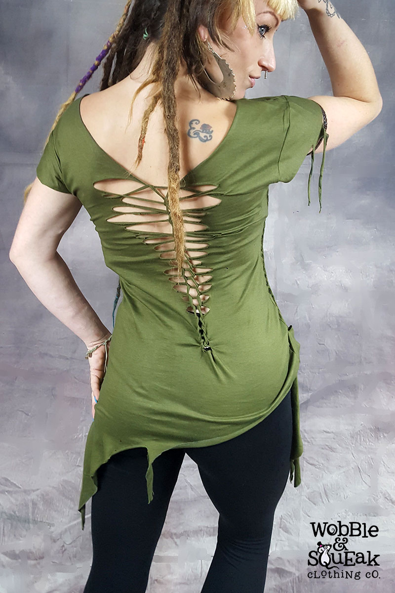 Slash and Weave Knot Top