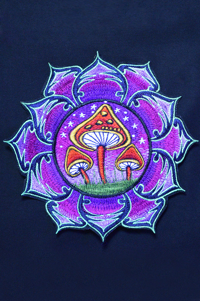 Large Mushroom Embroidered Patch