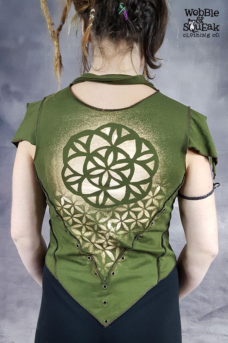 Mandala Coco Waistcoat Green