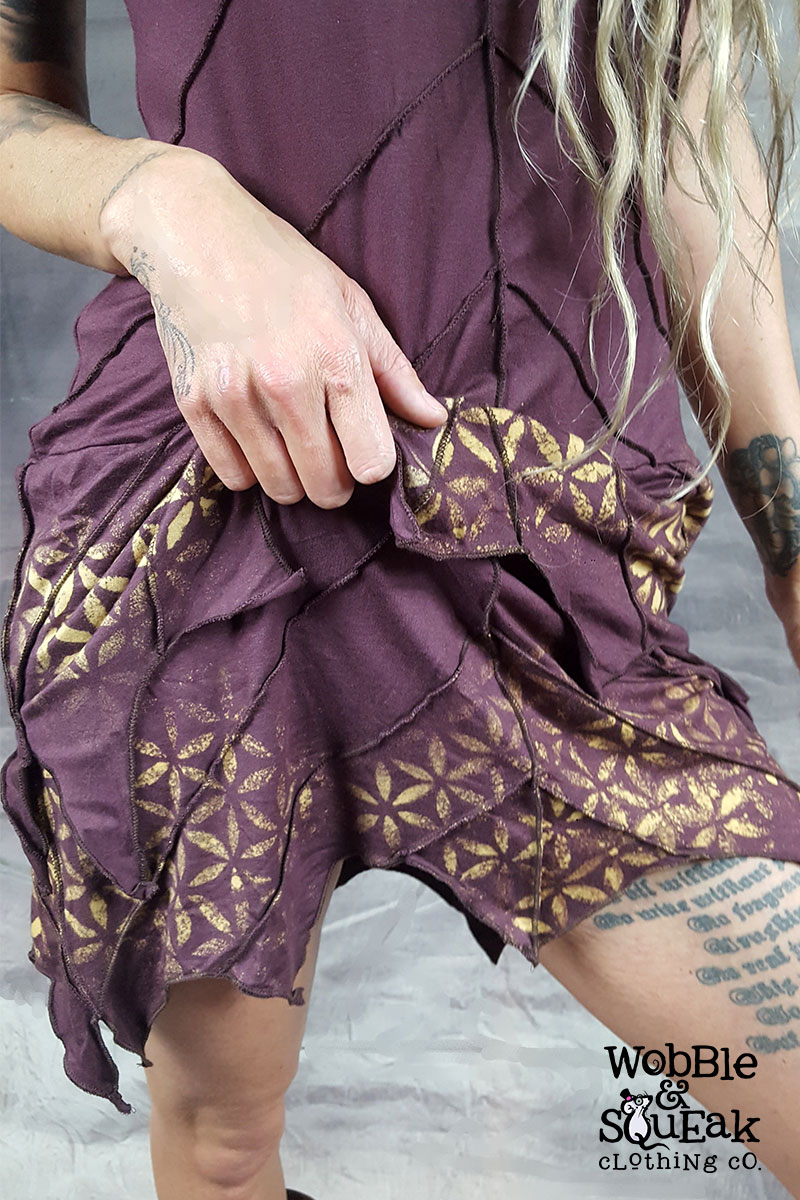 Mandala Leaf Dress Purple