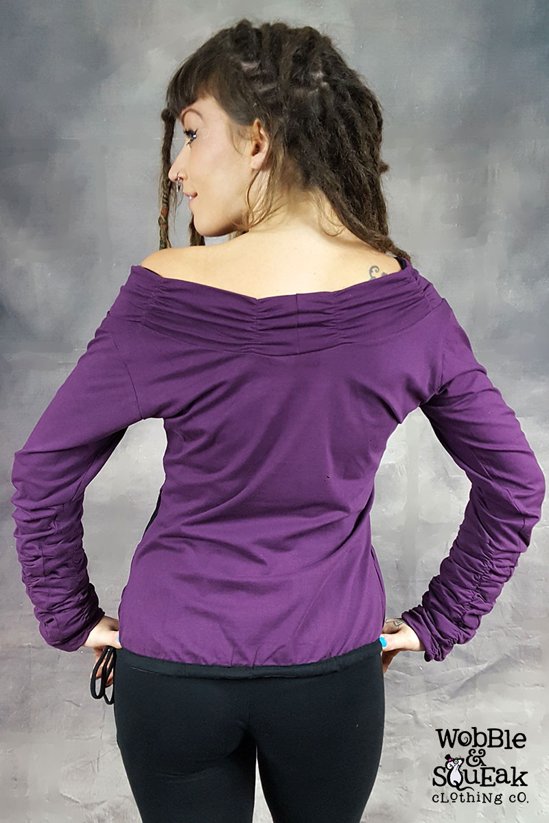 Ruffle Jumper Purple