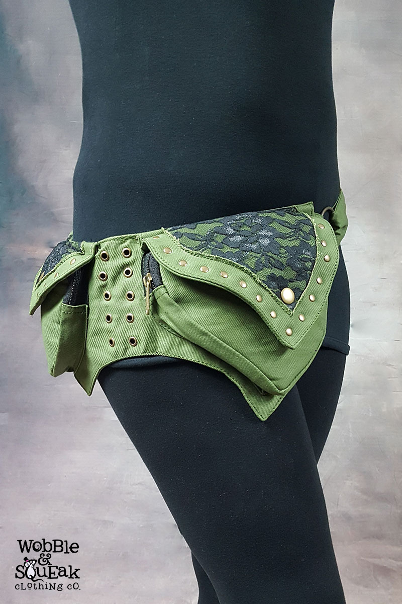 Mango Pocket Belt Green
