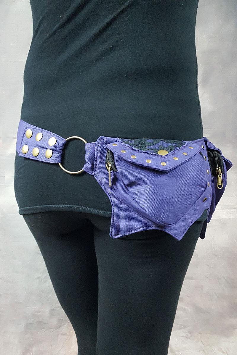 Mango Pocket Belt Purple