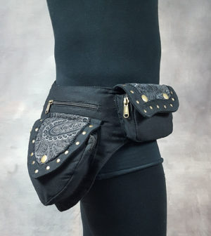 Papaya Pocket Belt Black