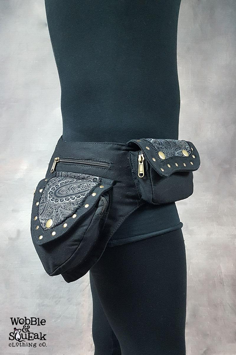Papaya Pocket Belt Black