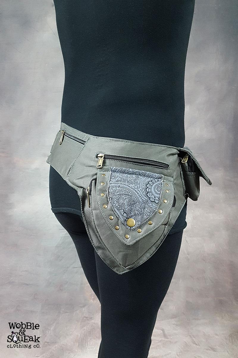 Papaya Pocket Belt Grey