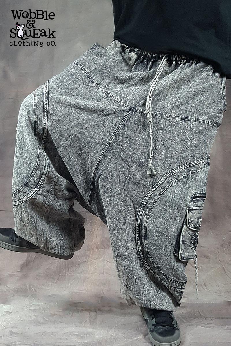 Stonewash Harem Grey