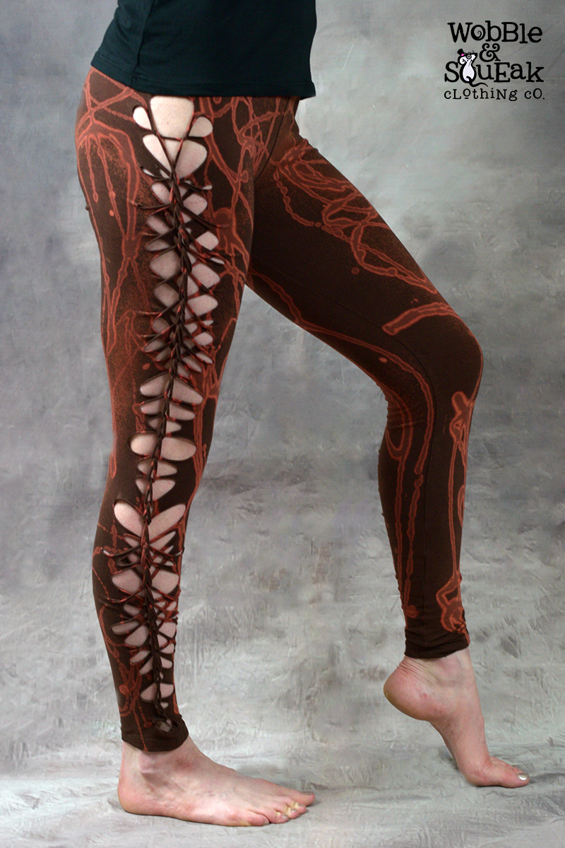 Acid Weave Leggings Brown