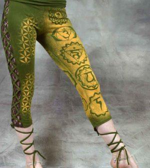 Chakra Leggings Green