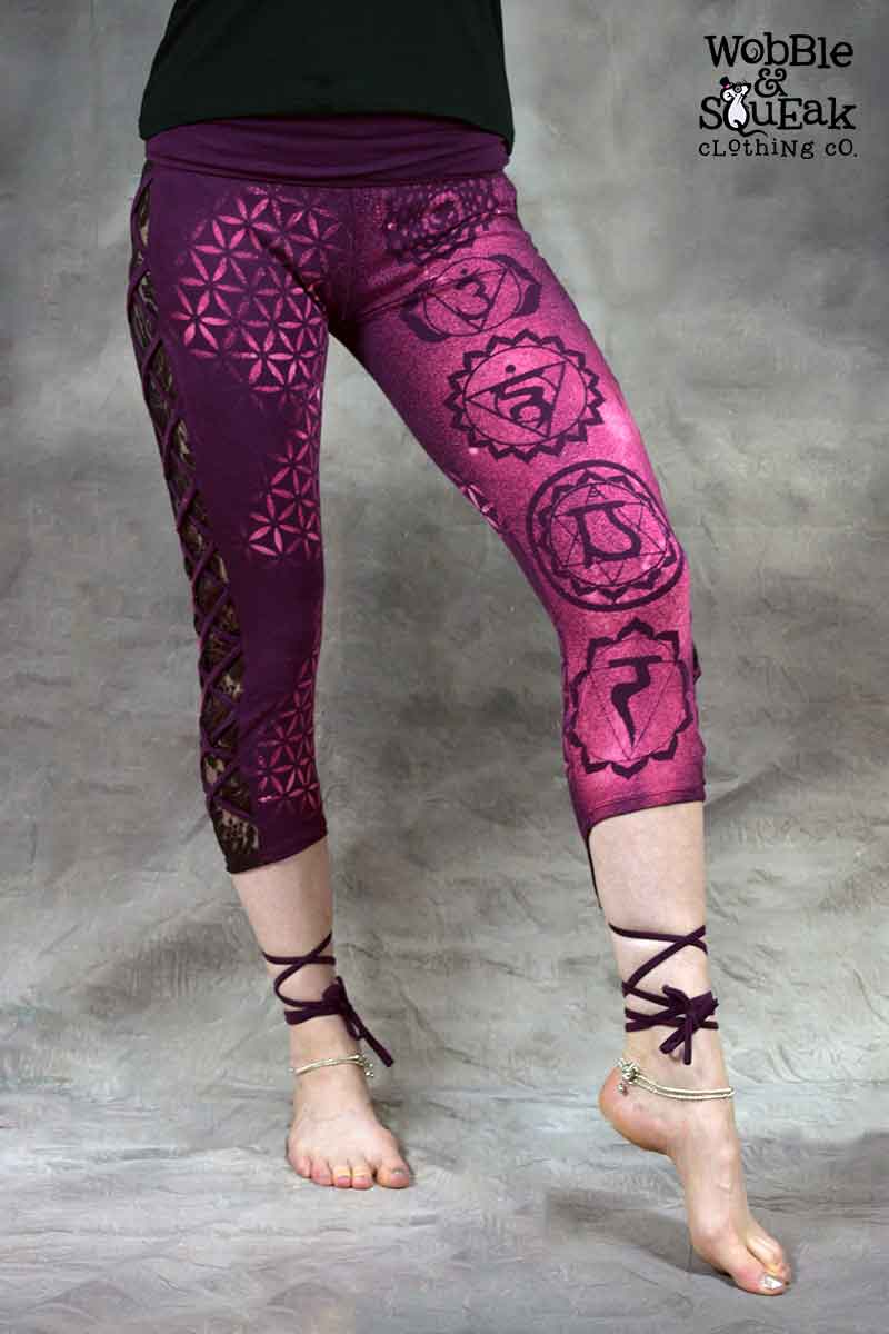 Chakra Leggings Purple