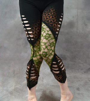 Flower of Life Net Leggings Black