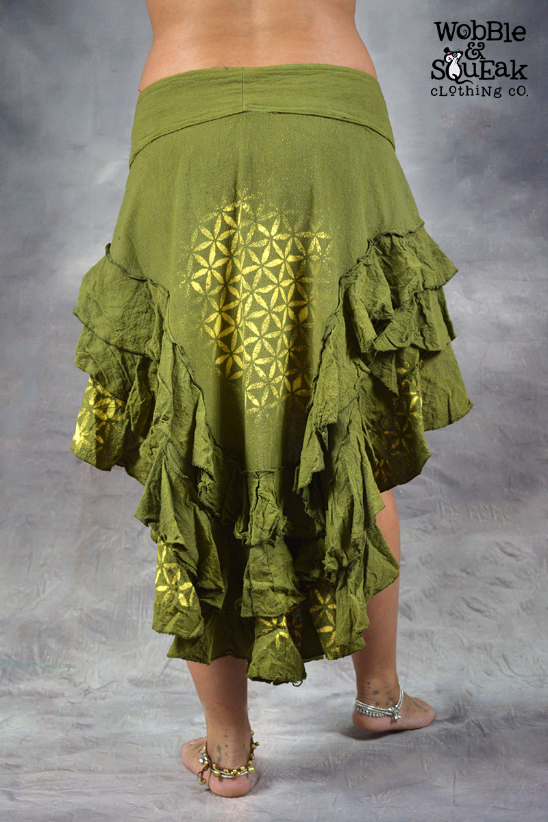Lunar Skirt Flower of Life Green