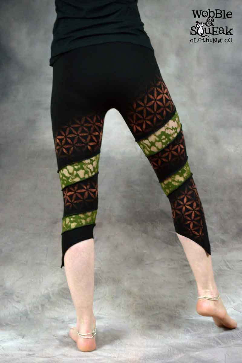 Flower of Life Spin Leggings Green