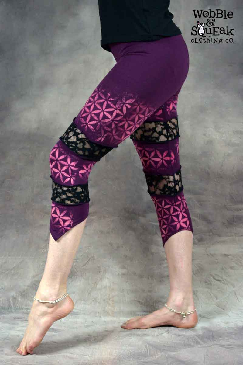 Flower of Life Spin Leggings Purple