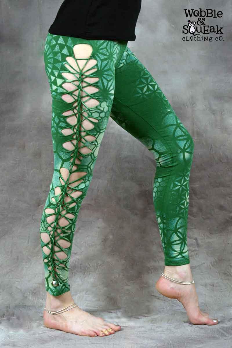 Mandala Leggings Grass Green