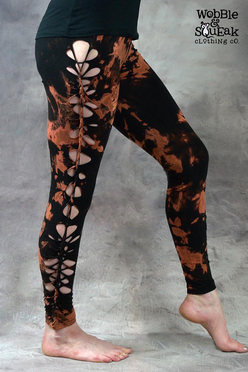 Wobble Tie Dye Leggings Black