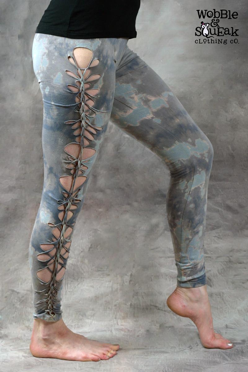 Wobble Tie Dye Leggings Grey