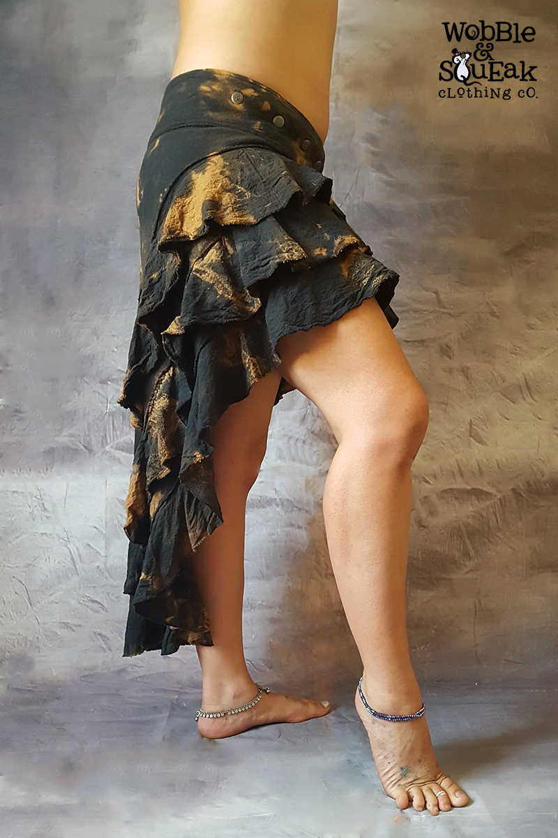 Lunar Skirt Black Tie Dye