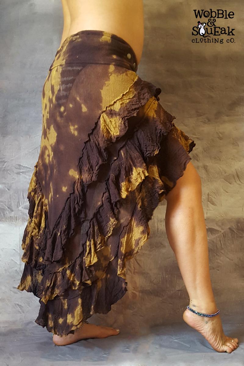 Lunar Skirt Dark Brown Tie Dye
