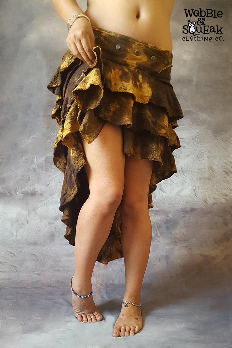 Lunar Skirt Light Brown Tie Dye