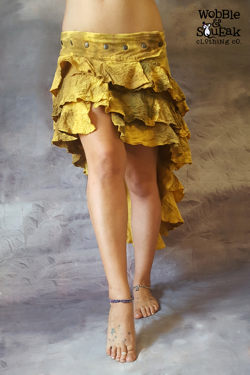 Lunar Skirt Mustard Tie Dye