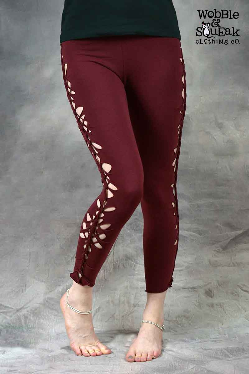 Wobble Leggings Maroon