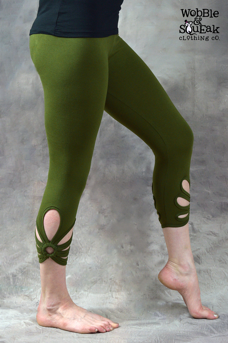 Ringspun Leggings Green