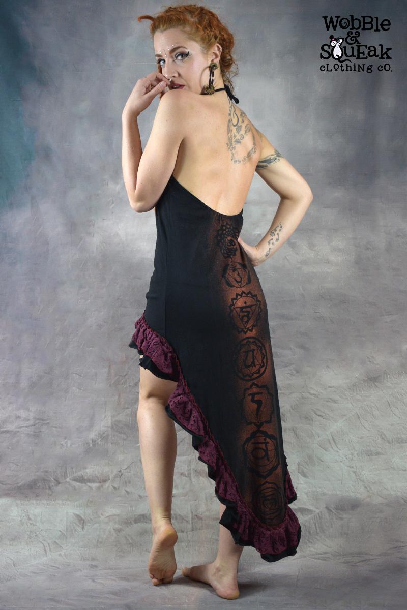 Seven Chakra Dress Black