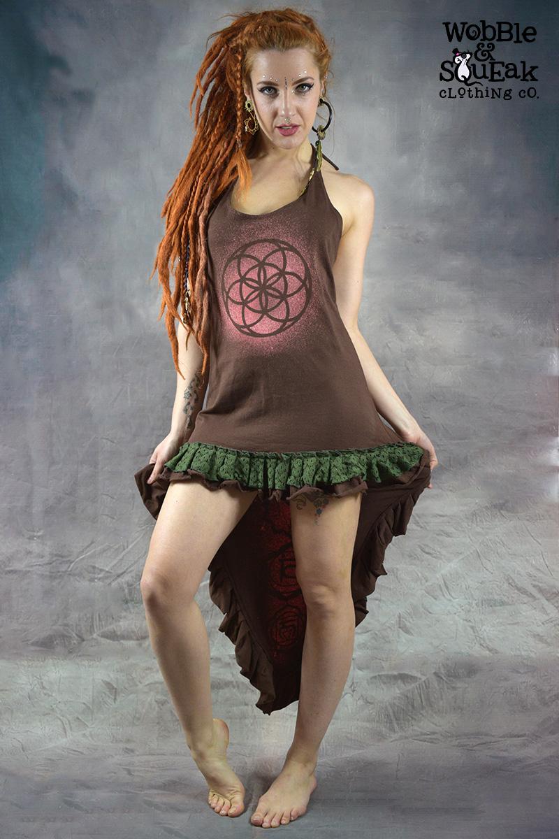 Seven Chakra Dress Brown
