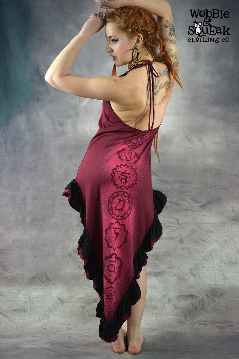 Seven Chakra Dress Red