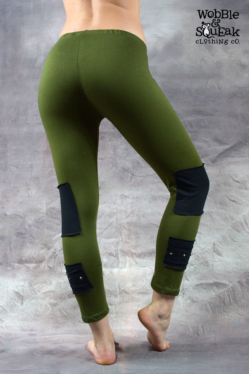 Stud Leggings Army