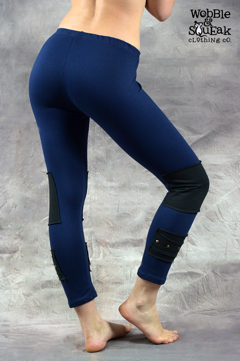 Stud Leggings Navy