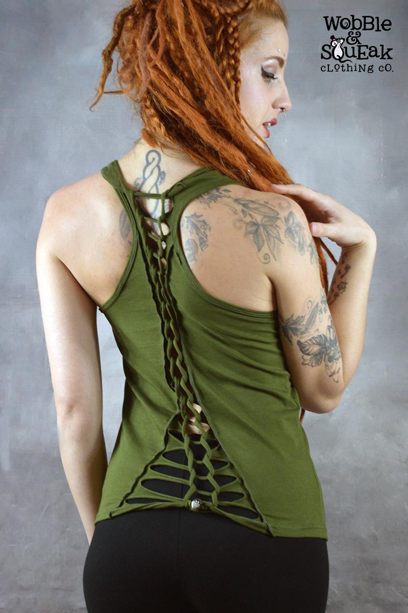 Krissy Short Knot Top Green