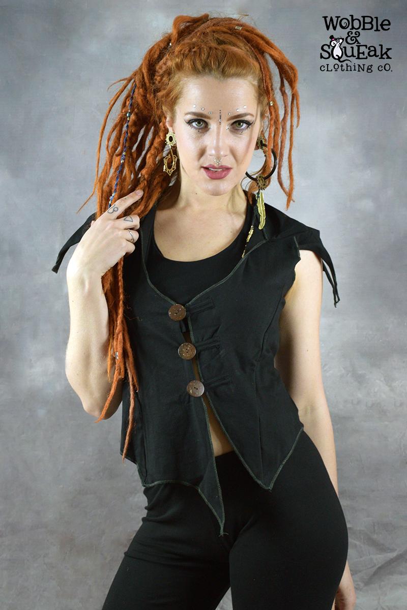 Coco Waistcoat Black