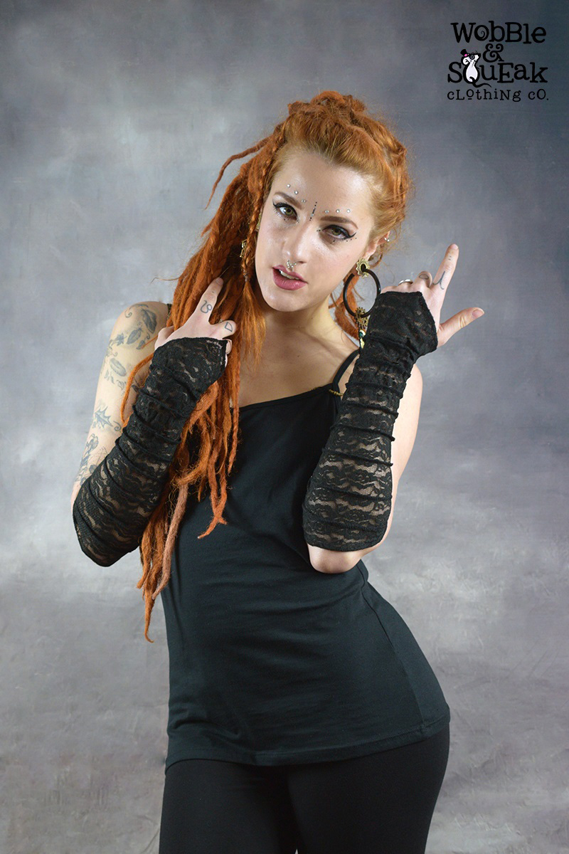 Lace Gloves Black