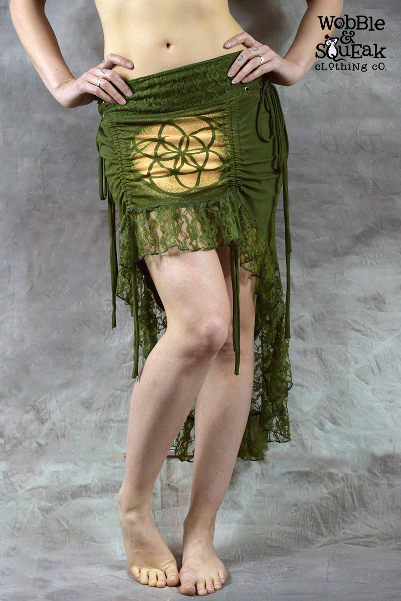 Mandala Dream Skirt Army Green