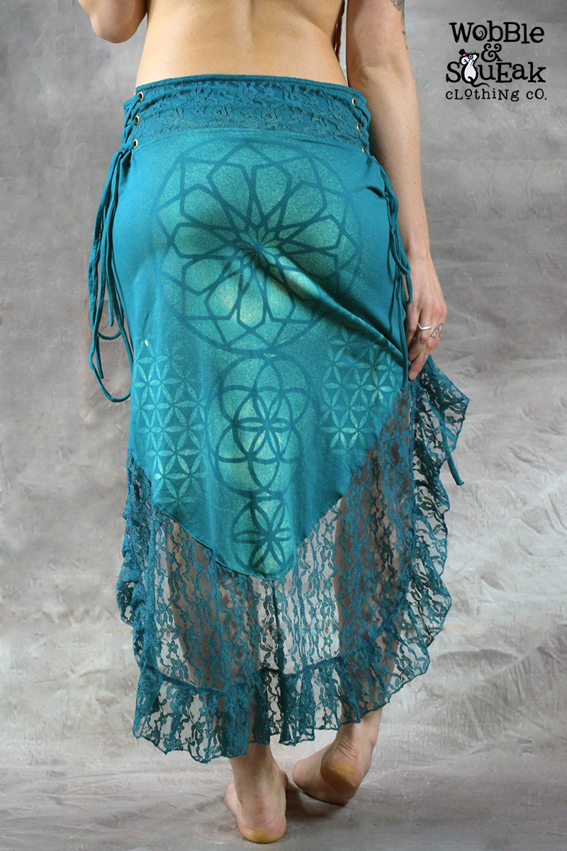 Mandala Dream Skirt Blue