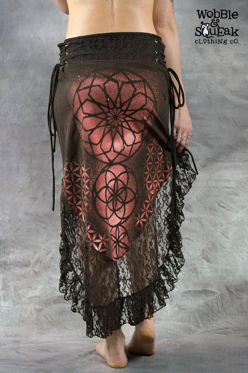 Mandala Dream Skirt Brown