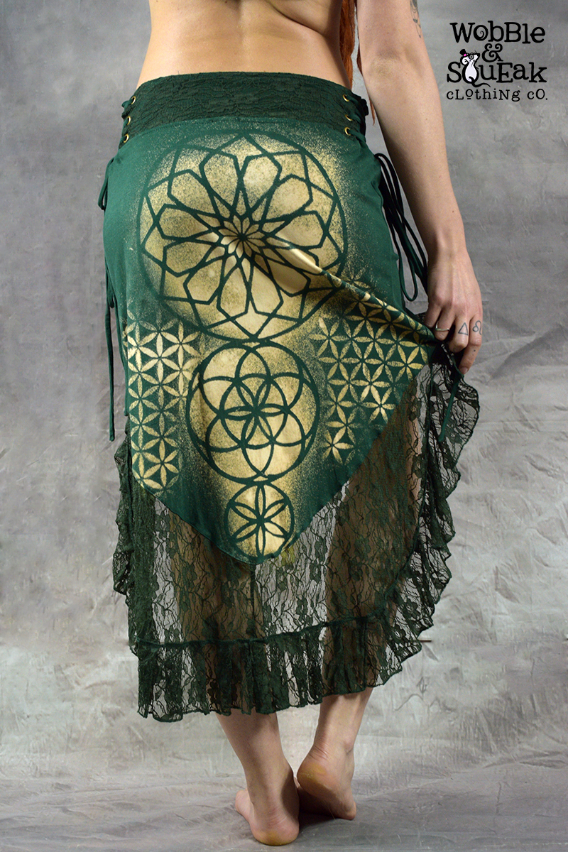 Mandala Dream Skirt Forest Green