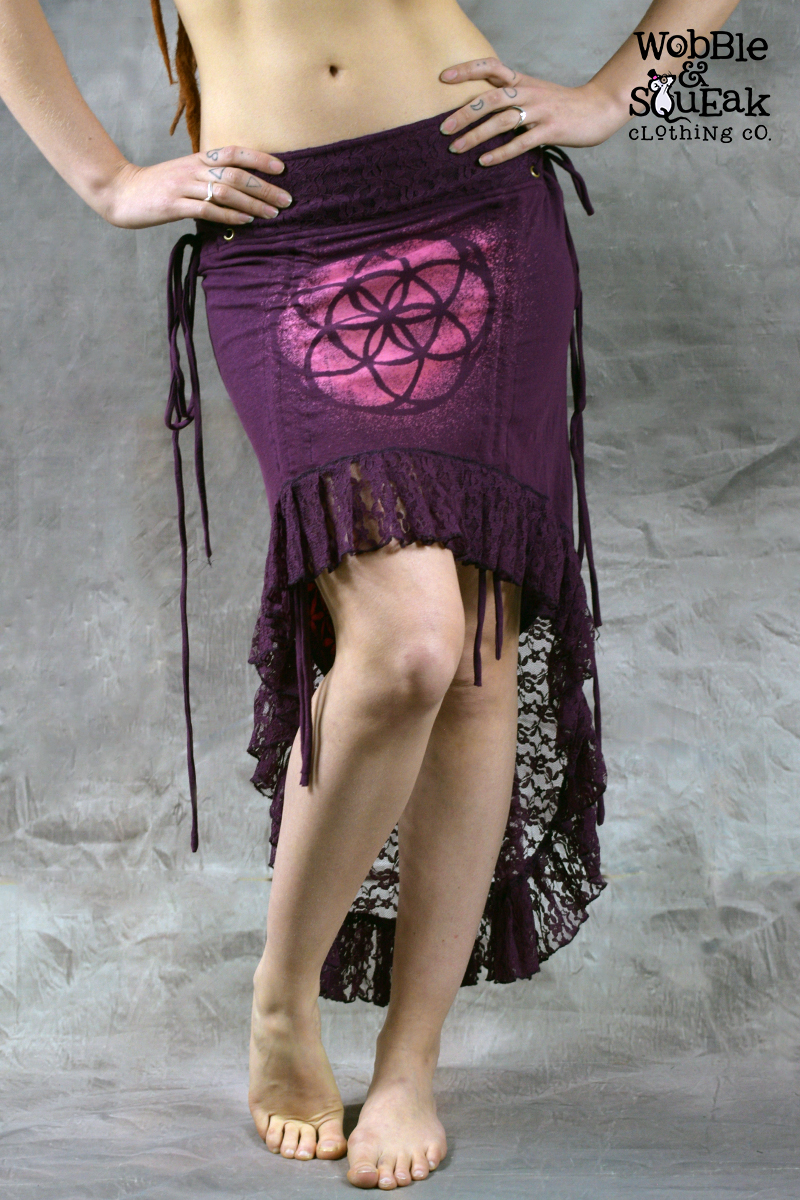 Mandala Dream Skirt Forest Purple