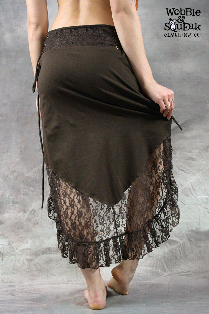 Dream Lace Skirt Brown