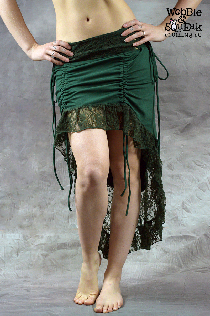 Dream Lace Skirt Forest Green